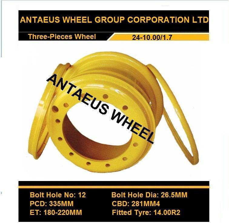 Earthmover Wheel Rim 24-8.5/1.7, 24-10.00/1.7