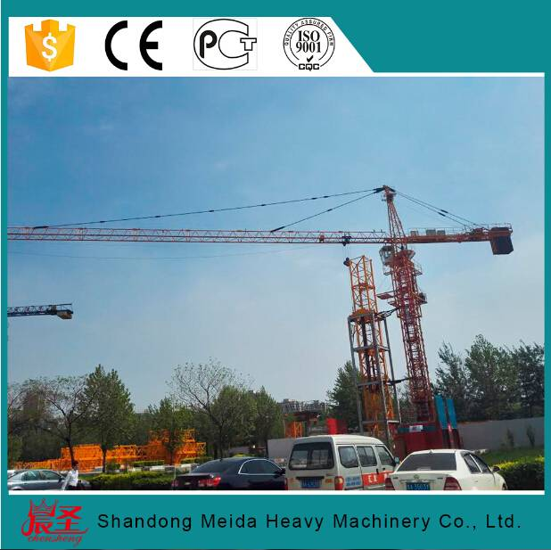 Building tower crane QTZ5510 with undercarriage foundation 6t lifting capacity
