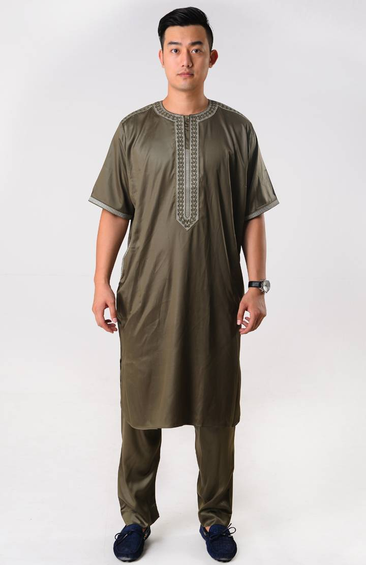 Moroccan 2-piece Set for Men Short Sleeves