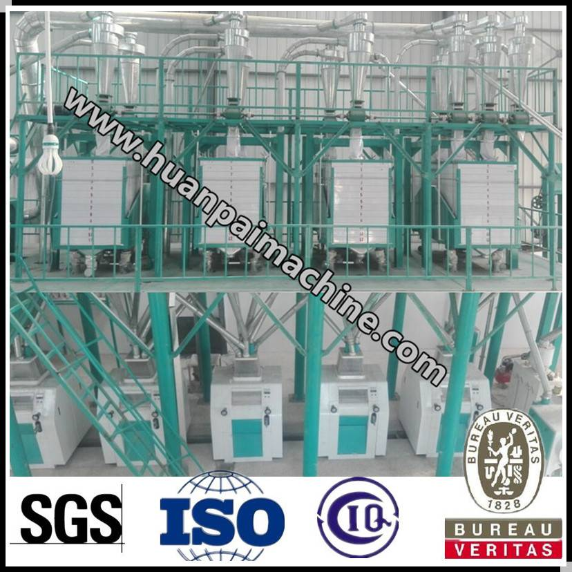 Excellent quality 35 ton per day wheat flour mill project for sale