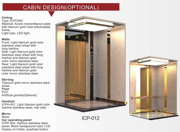 high quality passenger elevator with best chinese supplier