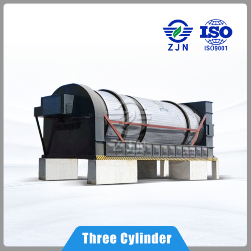 ZJN Professional Design Three-Cyclinder Rotary for Coconut Coir Drying