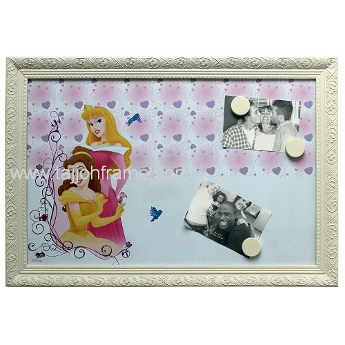 Classic Plaster Linear Note Board Wooden Photo Frame
