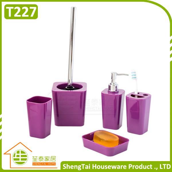 Bathroom Set Supplier Modern Fashion Colorful 5 Pcs Bathroom Product For Decor