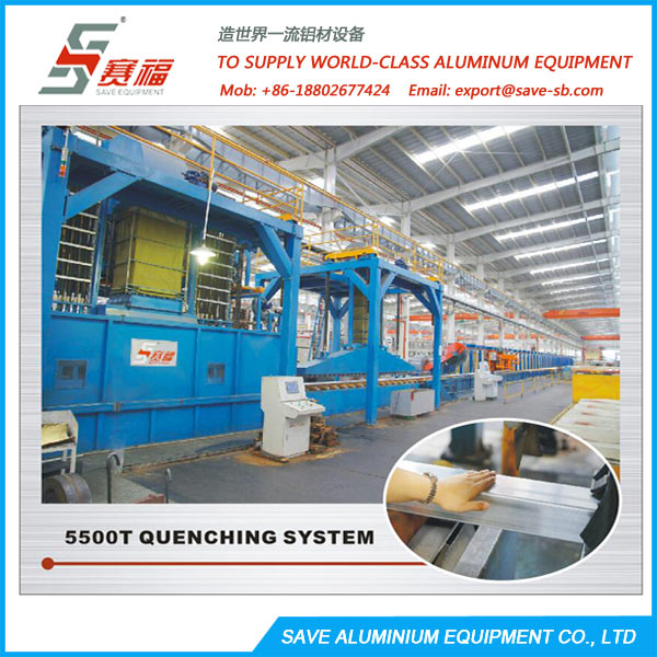 Aluminium Extrusion Profile Air And Water Spray Quench