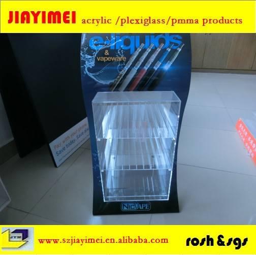 Acrylic compartment  display racks in display racks