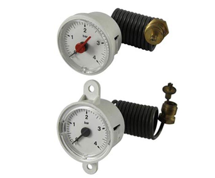 Boiler gauge with capillary