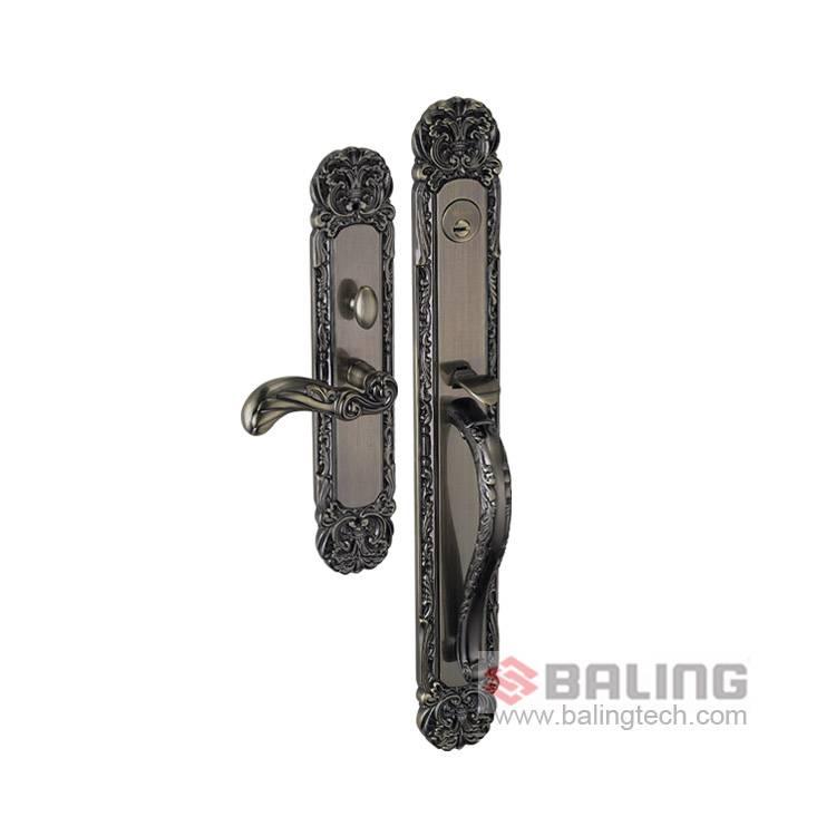 Brass Euro Standard Lock Case Mechanical Key Lock Retro Gate Lock