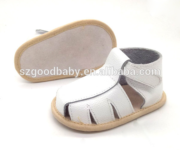 New design fashion flat leather sandals shoes factory kids shoes 2017