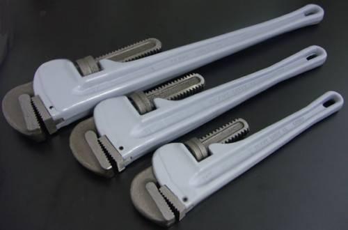 Aluminium pipe wrenches