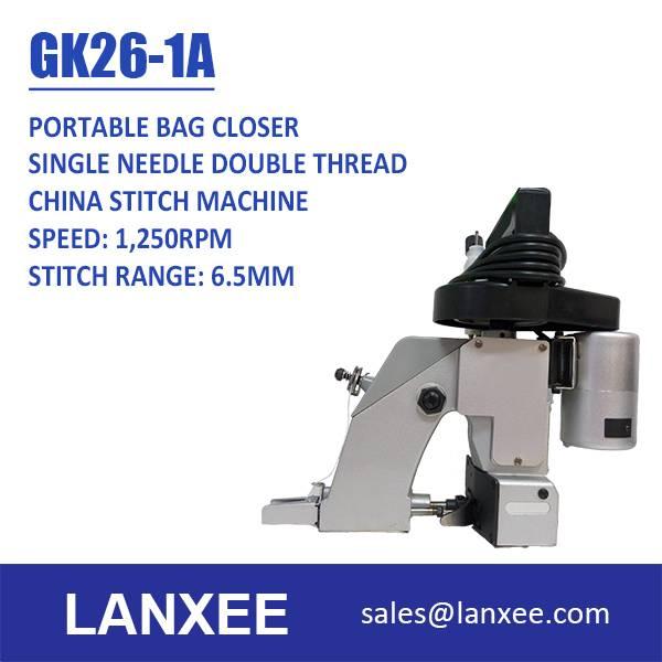 Lanxee GK26-1A Single Needle Single Thread Mini Hand Sewing Machine Bag Making Machine