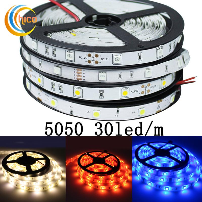 Project lights led strip lights SMD 5050 30 Leds/m 12v led strip lights waterproof IP67