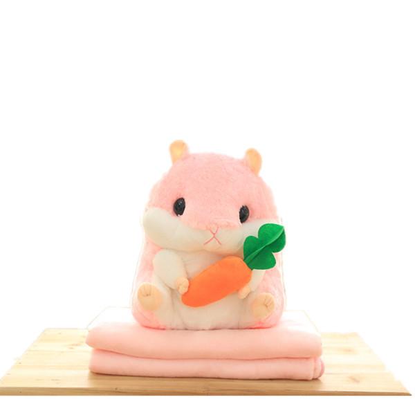 Wholesale Plush Stuffed Hamster Blanket Animal Toy