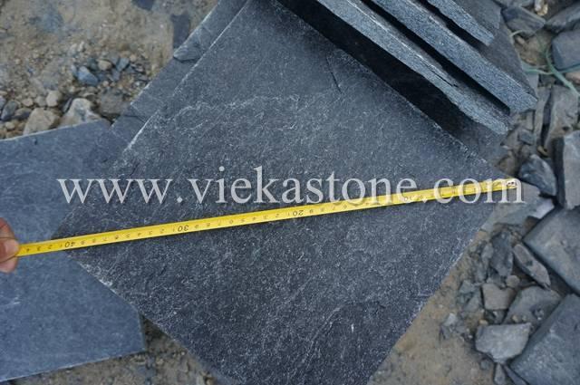 black quartzite culture stone wall panel