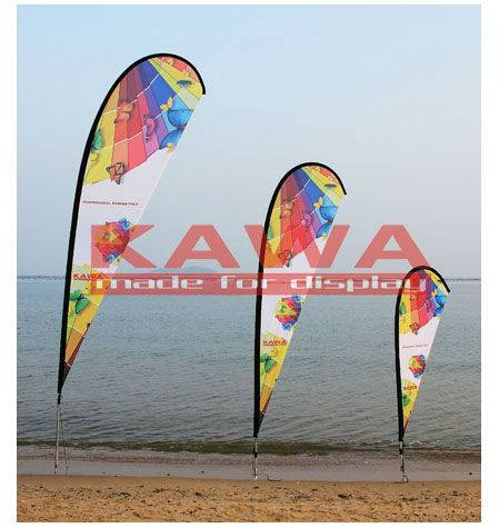Outdoor advertising teardrop feather flag