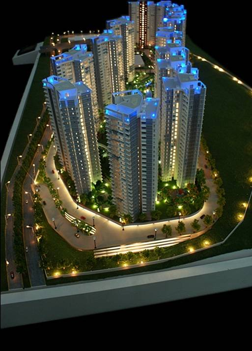 Architectural scale model with advanced touch screen lighting control system