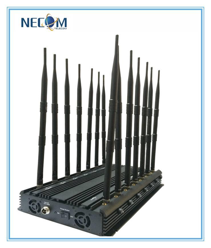 14 Bands Stationary Antenna Jammer,Blocker for All Cellular,GPS,Lojack, Alarm,14 Antennas Cellular +