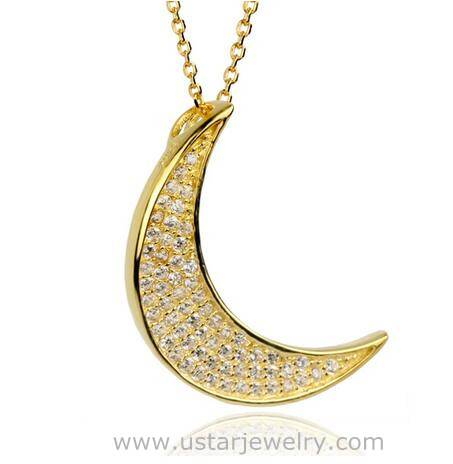 Classic Design Hot sell I Love You To the Moon Pendant Necklace Wholesale With Cheap Price