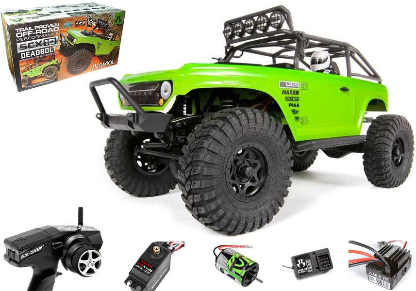 New AX90044 Axial SCX10 Deadbolt Rock Crawler Truck 1/10 4WD 2.4GHz