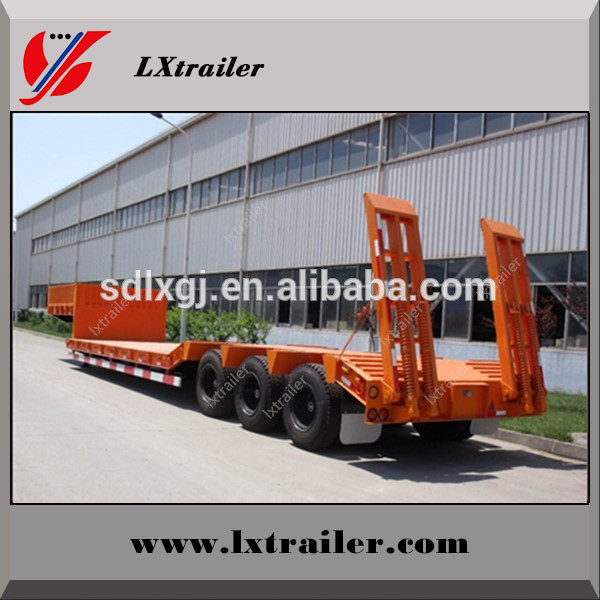 3 axles hot selling flat bed semi trailer,tri-axle low bed semi trailer