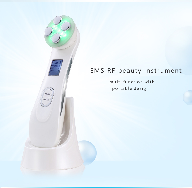 7 in 1 Multiple function beauty device RF EMS LED photon hot energy tech