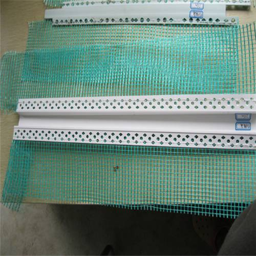 Building material PVC corner protector strip/PVC Angle Bead with fiberglass mesh