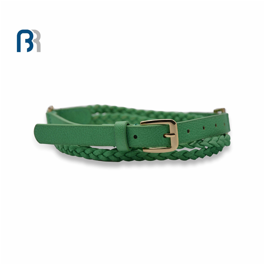 Ladies Double Braided PU Belt