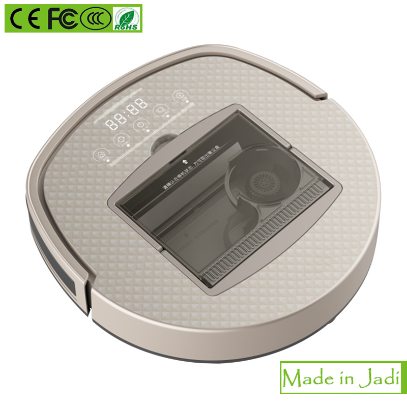 Strong Suction Robotic Vacuum Cleaner with Cyclone filter system