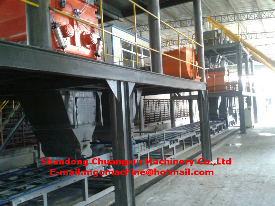 Automatic Magnesium Oxide Fireproof Board Making Machine Mgo Production Line