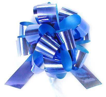 wedding  blue pom-pom pull bow