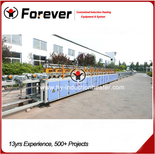 Hardening and tempering line