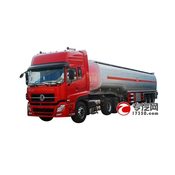 Dongfeng 6x4 semi-trailer fuel tanker truck