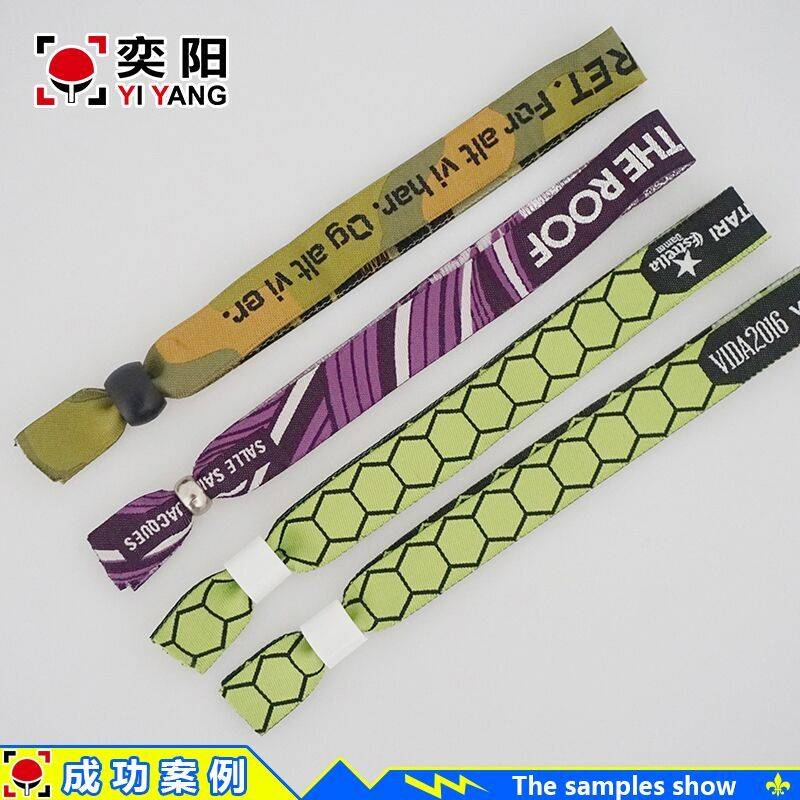 Factory sale customized promotional woven one-off wristband