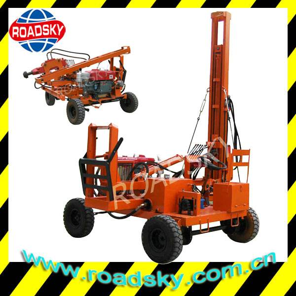 Hydraulic Piling Machine for Guardrails