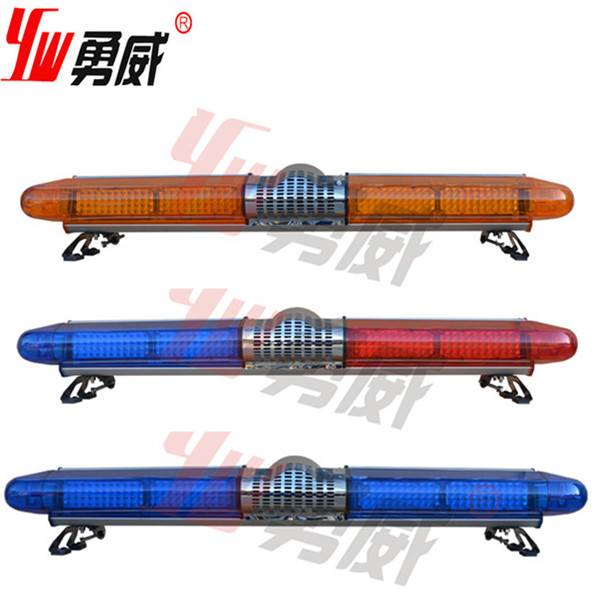 DC12V amber 1.2m 100w siren 100w speaker led warning lightbar