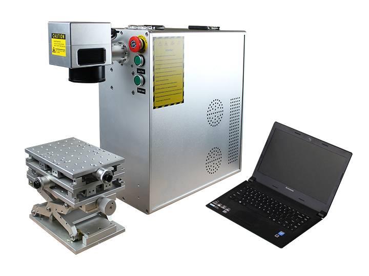 Color laser marking machine with MOPA fiber laser source 20W