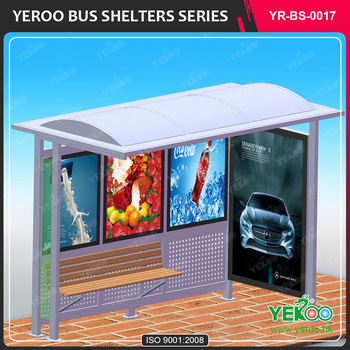 Modern outdoor advertising equipment bus station with light box