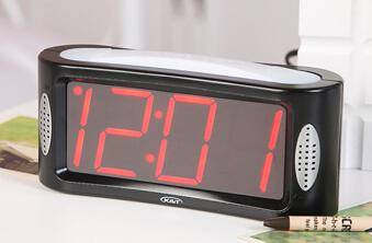 Novelty dongguan ABS talking alarm clock