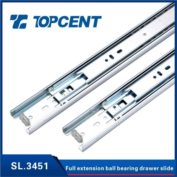 Full Extension telescope channel ball bearing drawer slides