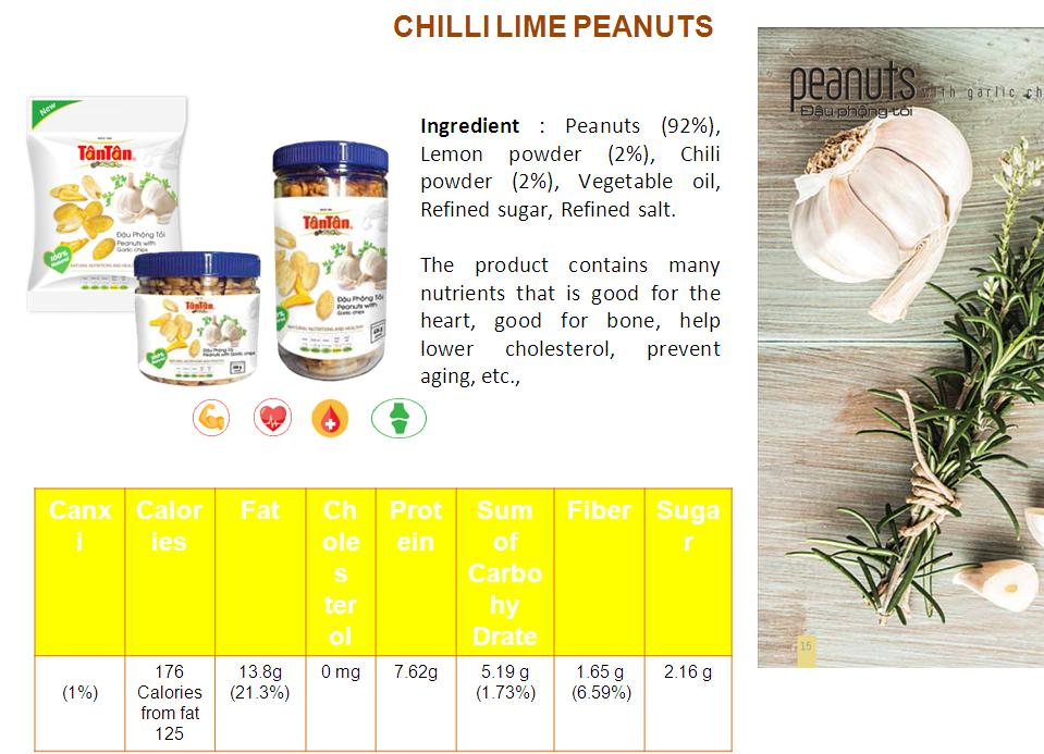 Crispy PEANUT Chili Lime snack coated covered wrapped (Tan Tan brand Vietnam, Jolie 84983587558)