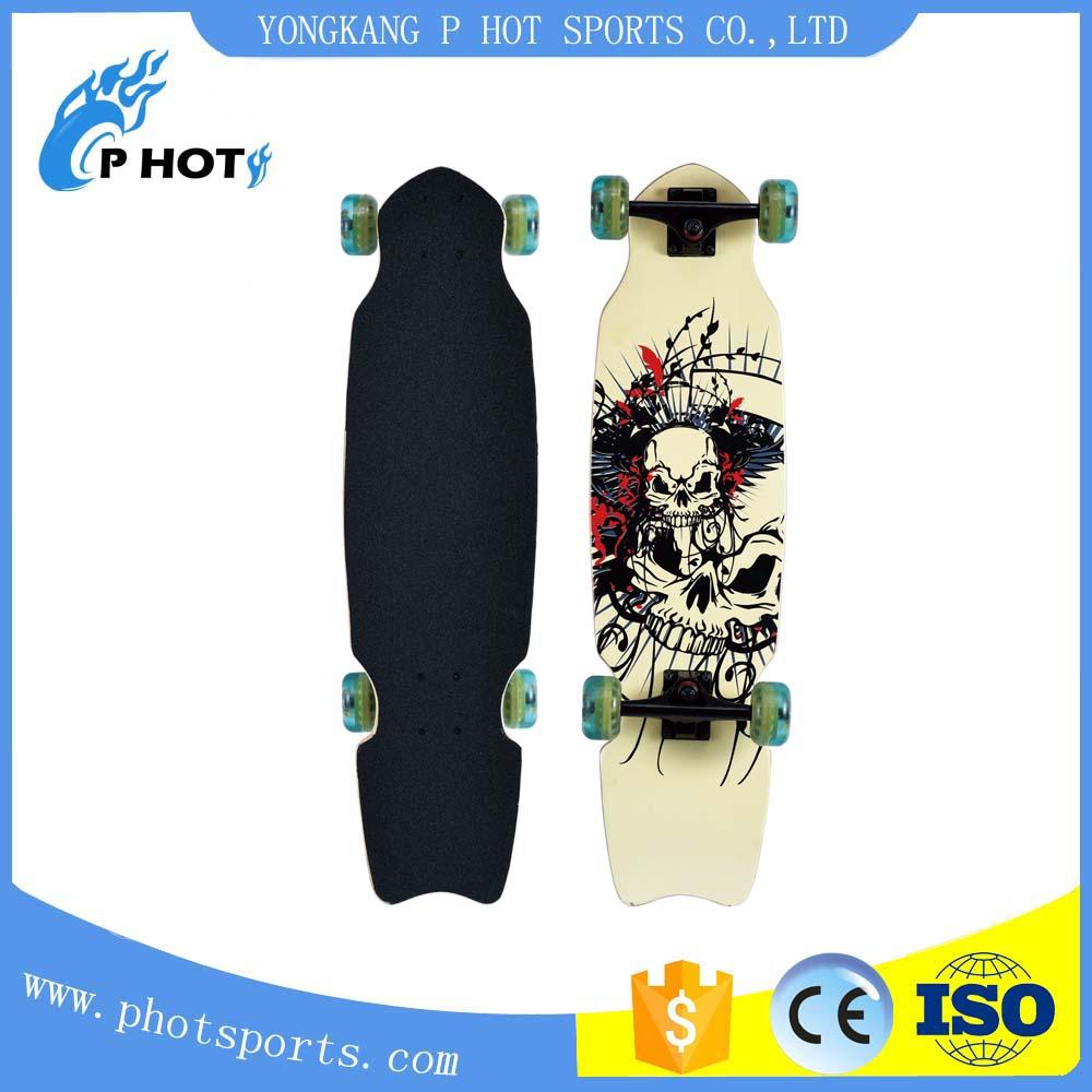alu truck skateboard low price pu wheel mini longboard skateboard