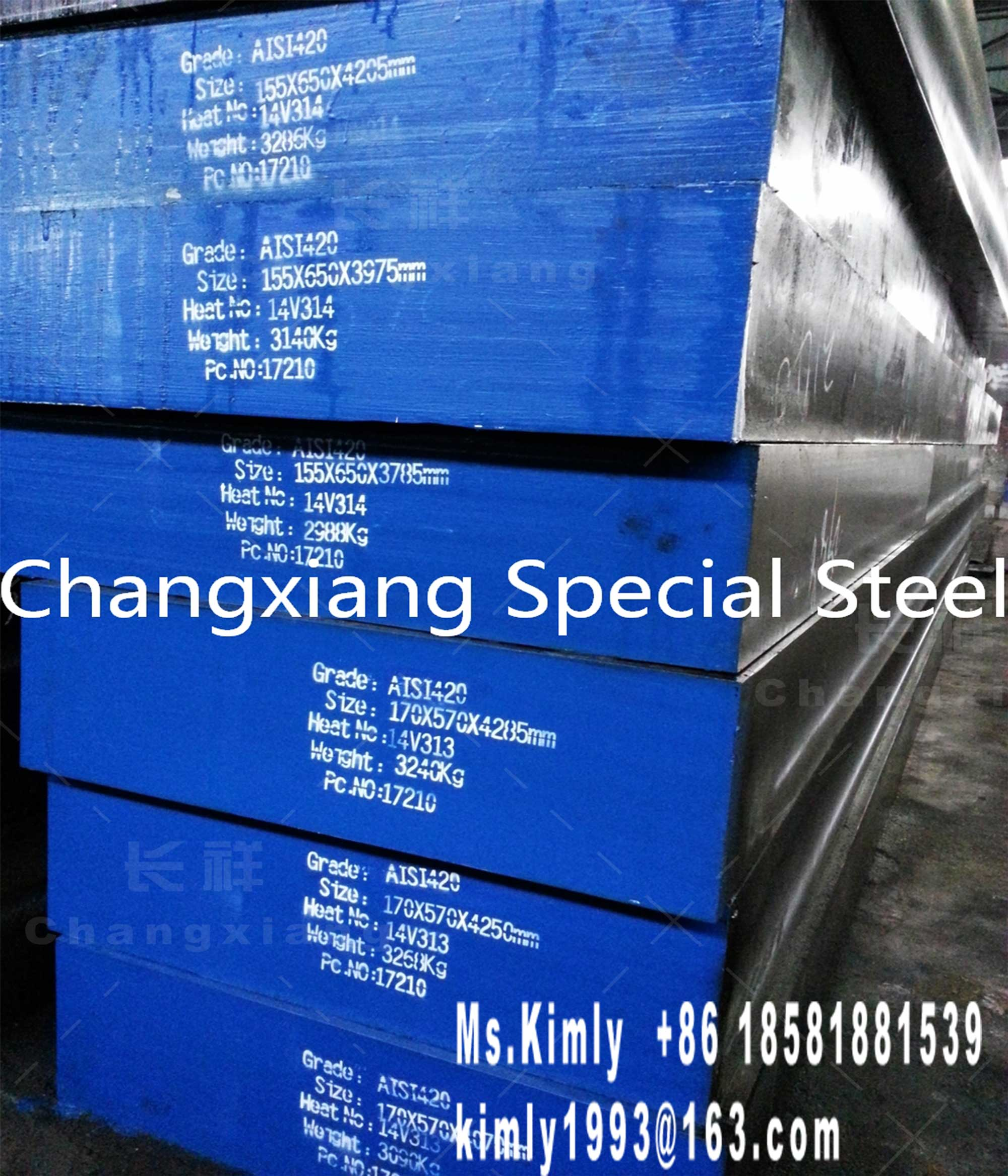 Forged mold die stainless special tool steel AISI 420 flat round bar forging