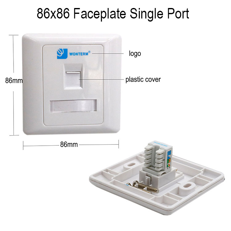 Face Plate in 8686 mm Type 1port Single /Double Face Plate