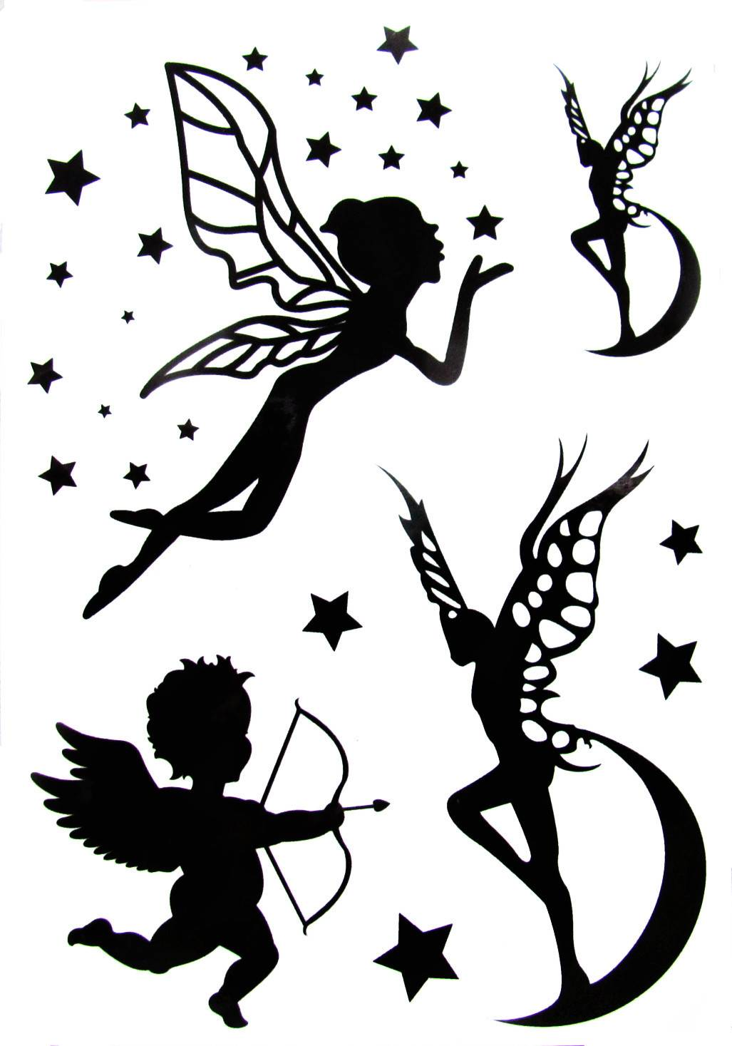 The angel design tattoo stickers for kids
