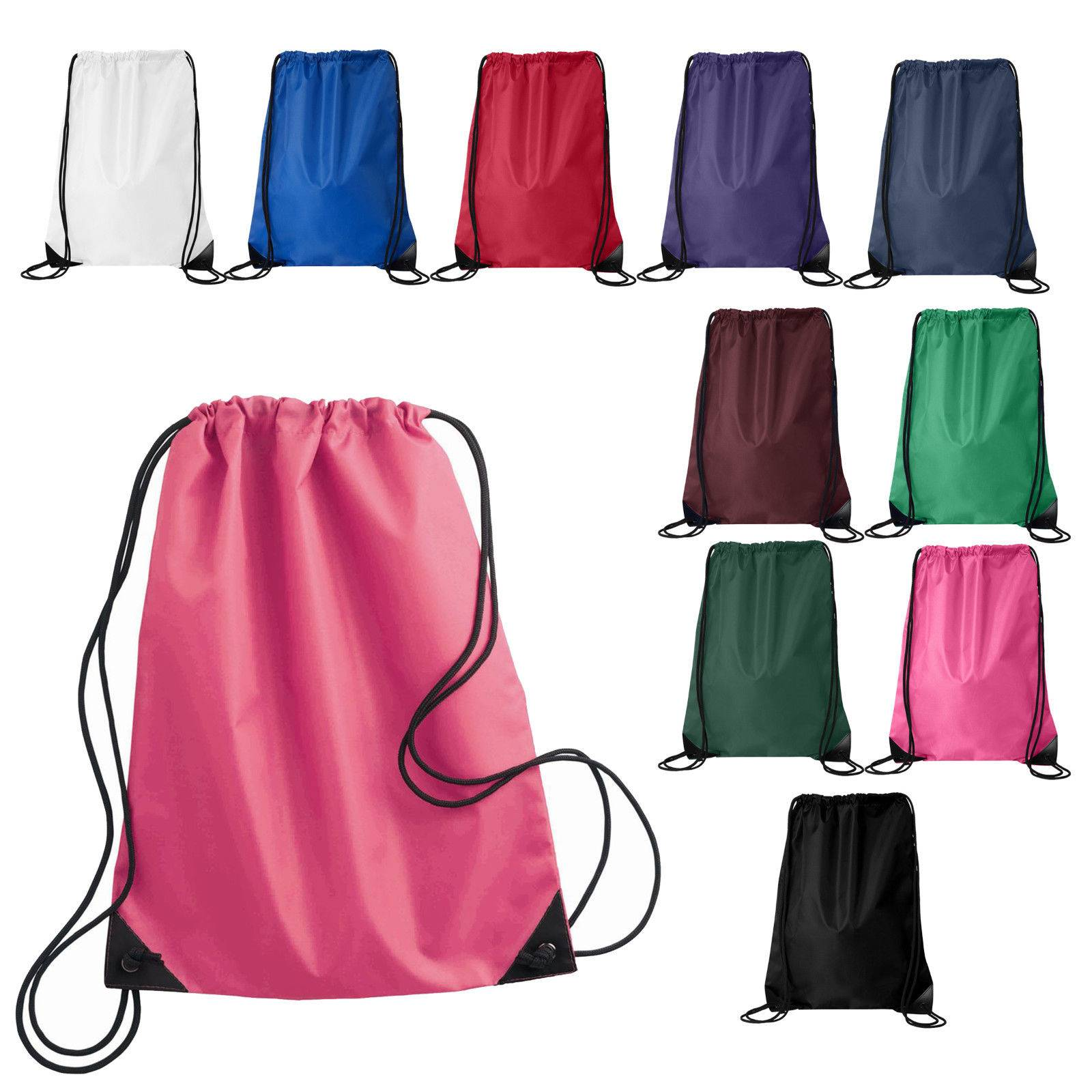 Cheap Customized OEM Nylon Polyester Cotton Shoe Gym Drawstring Bag