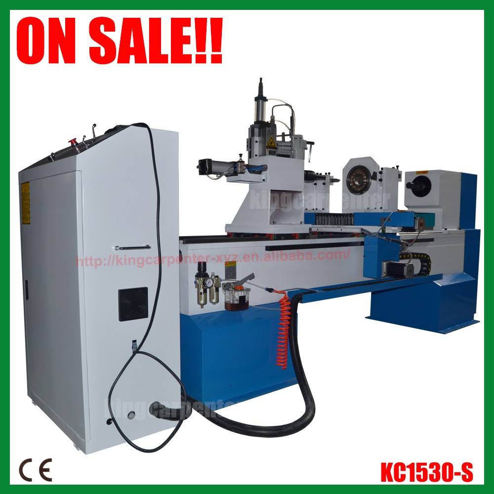 high quality KC1530-S wood cnc lathe machine/cnc lathe machine