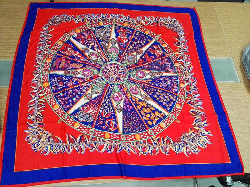 2016 Hot Sell Large Square Stain Printed Silk Scarves