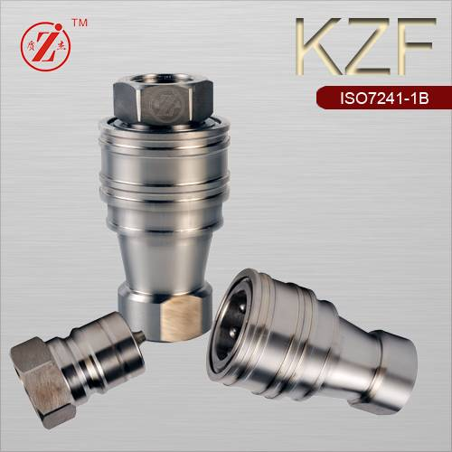 ISO B stainless steel quick disconnect coupling