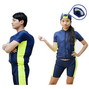 Automatic inflatable swimsuits for watersports