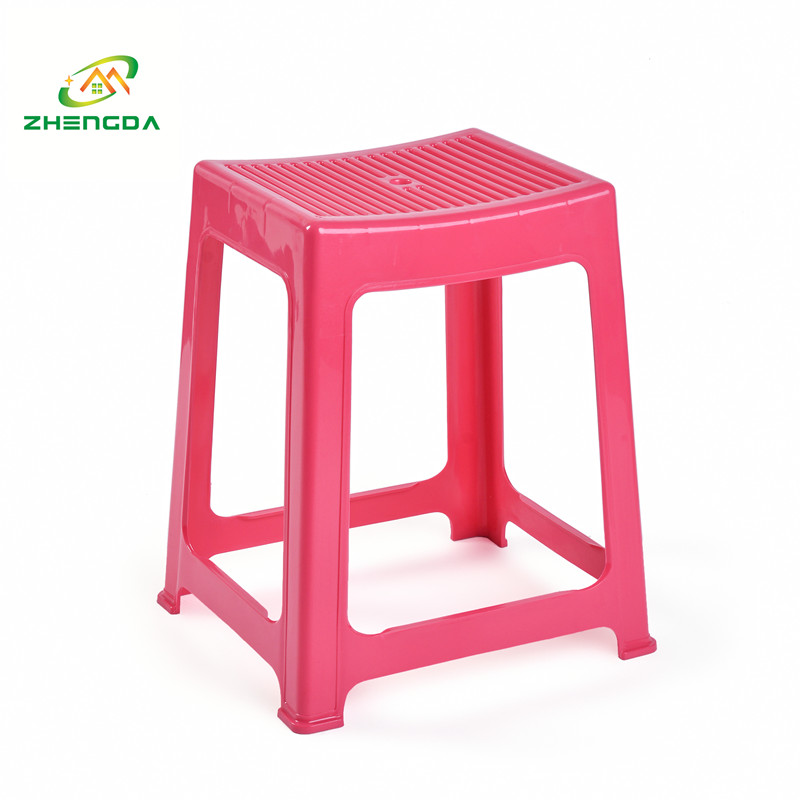 high cheap portable plastic stacking square outdoor sitting stool chair